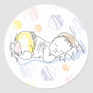 Sticker sleepy baby