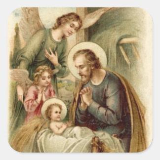 Sticker: St. Joseph Nativity Square Sticker