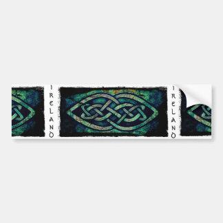 Sticker, sticker, Ireland, Celtic knot Bumper Sticker