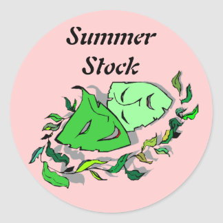 Sticker Summer Stock Comedy Tragedy Theatre Pink