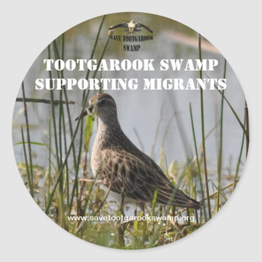 Sticker Supporting Migratory Birds Sticker