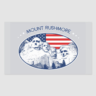 Sticker. T-shirt. Mount Rushmore, the USA America Rectangular Sticker