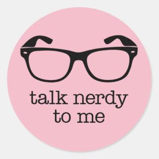 sticker talk nerdy to me