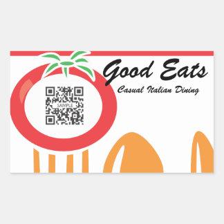 Sticker Template Casual Dining Italian