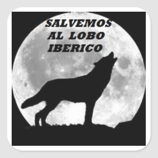 Sticker to save the wolf