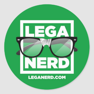 Sticker tondo Lega Nerd