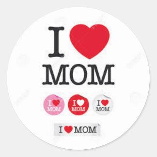 sticker traditional round I coils mom