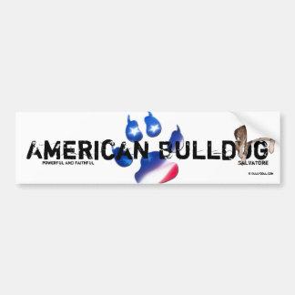 Sticker Unikat Salvatore American Bulldog Bumper Sticker