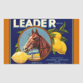 Sticker Vintage Advertising Lemons Lead Race Horse