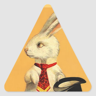 Sticker Vintage Anthro Magic Hat Trick Rabbit Hare