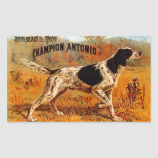Sticker Vintage Cigar Ad Hunting Bird Dog Champion
