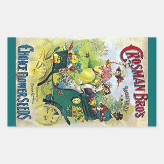 Sticker Vintage Flower Garden Seed Advertising Ad