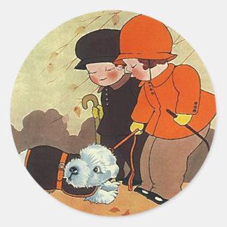 Sticker Vintage Forever Home Dog Pet Comfort Stray