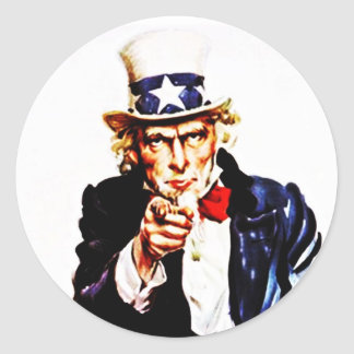 Sticker Vintage Iconic Uncle Sam Wants You Points