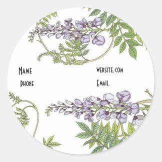 Sticker Vintage Lavender White Floral