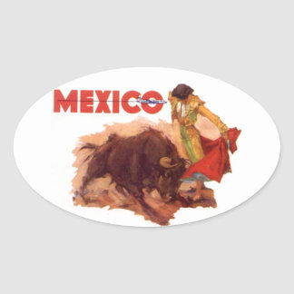 Sticker Vintage Mexico Travel Sticker Bullfighting