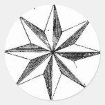Sticker - Vintage Nautical North Star
