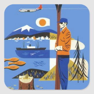 Sticker Vintage Pacific Northwest Travel Luggage