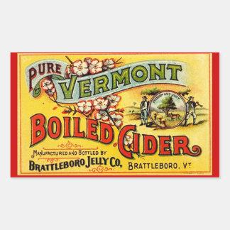 Sticker Vintage Pure Vermont Boiled Cider Old Labl