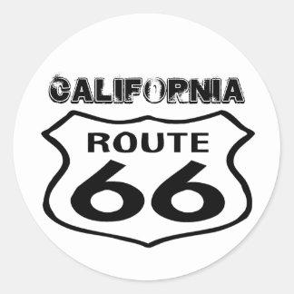 Sticker Vintage Route 66 Worn Lk State California