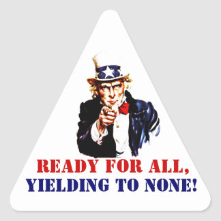 Sticker Vintage Uncle Sam Marines Slogan Yielding