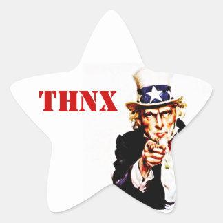 Sticker Vintage Uncle Sam THNX For Your Service
