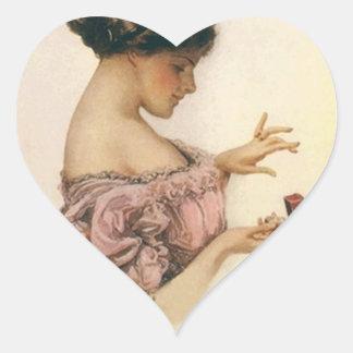 Sticker Vintage Victorian Heart Engagement Ring