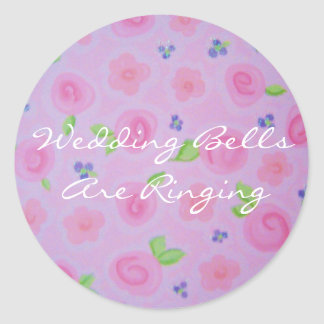 sticker Wedding BellsAre Ringing