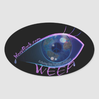 Sticker-WEEP the band logo Oval Sticker