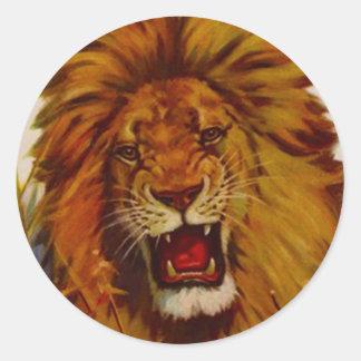 Sticker Wildlife Lion Growls Snarls Roaring Mascot