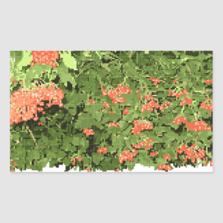 Sticker with a picture of a viburnum