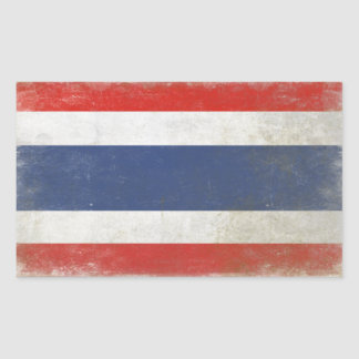 Sticker with Distressed Thailand Flag