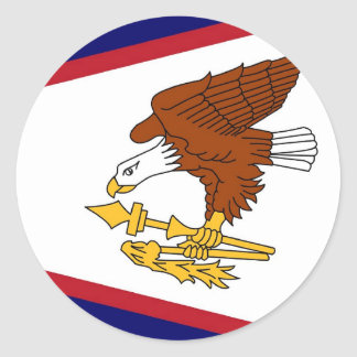 Sticker with Flag of American Samoa