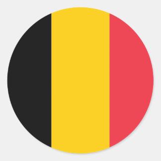 Sticker with Flag of Belgium