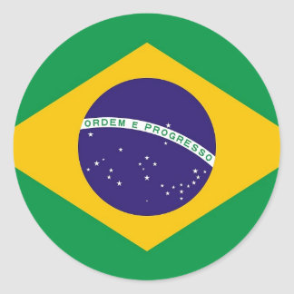 Sticker with Flag of Brazil