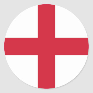 Sticker with Flag of England