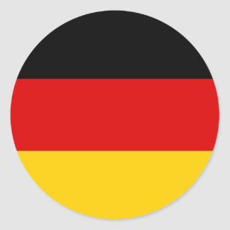 Sticker with Flag of Germany