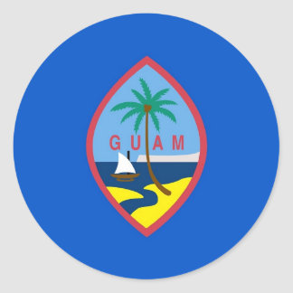 Sticker with Flag of Guam