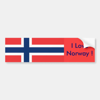 Sticker with Flag of Norway Bumper Sticker