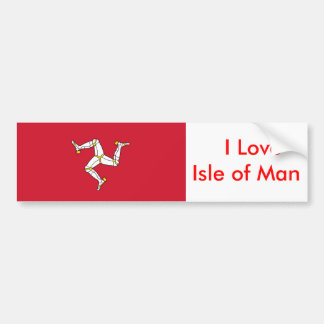 Sticker with Isle of Man Flag