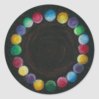 Sticker with marbles in a circle