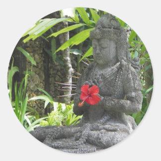 Stickers:  Bali Statue Round Sticker
