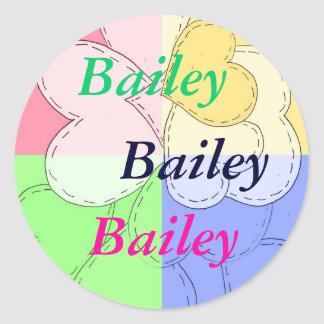 Stickers for name: Bailey