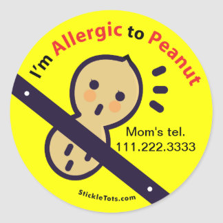Stickers for Peanut Allergy / Customize