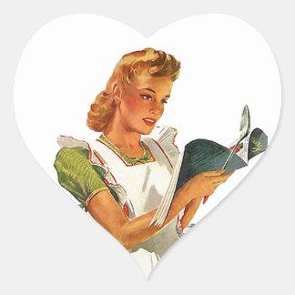 Stickers Hearts Vintage Homemaker Kitchen Cooking