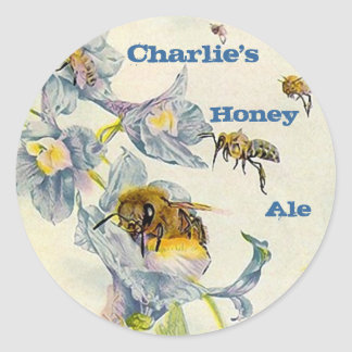 STICKERS HONEY Ale Homebrew Labeling Sticker weiss