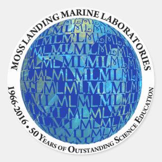 Stickers: MLML 50th globe Classic Round Sticker