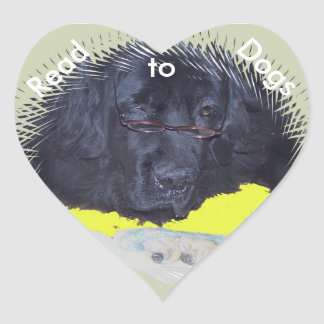 Stickers~ Read to dogs Heart Sticker