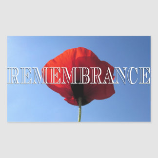 Stickers - Red Poppy Blue Sky REMEMBRANCE