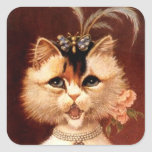 STICKERS Victorian Singing Parlour Cat Jewel